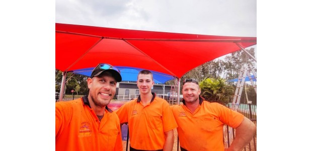 DIY shade sail installers